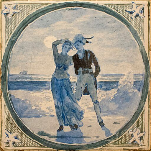 An illustration for the story A Rivermouth Romance by the author Thomas Bailey Aldrich