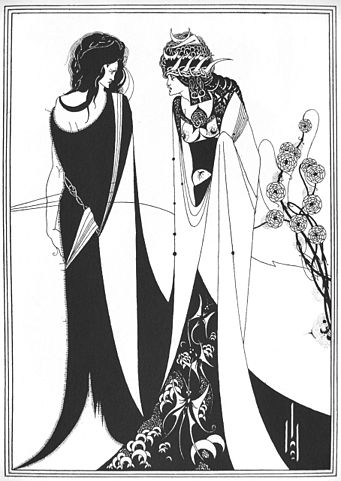 An illustration for the story A Story of Salome by the author Amelia B. Edwards
