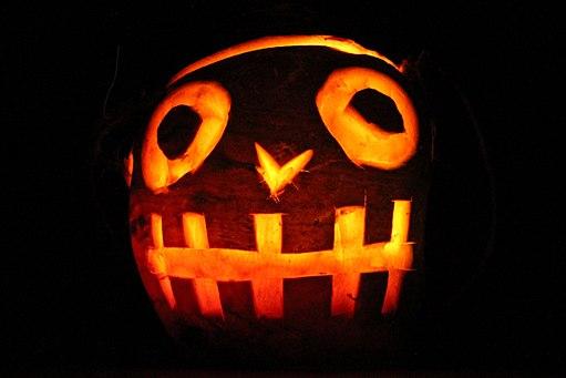 A Tale for Halloween, lit jack-o'-lantern