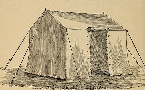 An illustration for the story A Tent in Agony by the author Stephen Crane