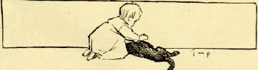 A Dark Brown Dog study guide: illustration of the Child holding the dead Dog