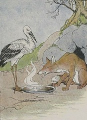 Aesop's Fables - The Fox and the Stork Fable