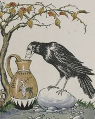 Aesop's Fables - The Crow and the Pitcher Fable