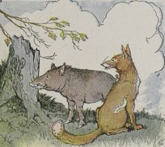 Aesop's Fables - The Wild Boar and the Fox Fable