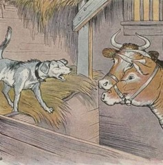 Aesop's Fables - The Dog in the Manger Fable