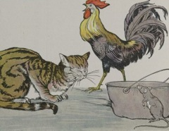 Aesop's Fables - The Cat the Cock and the Young Mouse Fable