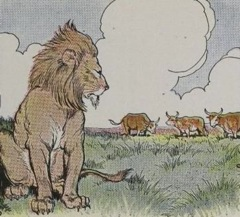 Aesop's Fables - Three Bullocks and a Lion Fable