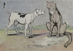 Aesop's Fables - The Wolf and the House Dog Fable