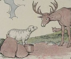 Aesop's Fables - The Stag the Sheep and the Wolf Fable