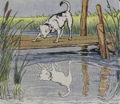Aesop's Fables - The Dog and his Reflection Fable