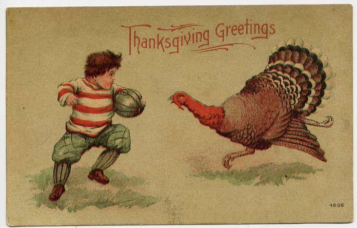 An illustration for the story An Old-Fashioned Thanksgiving by the author Louisa May Alcott