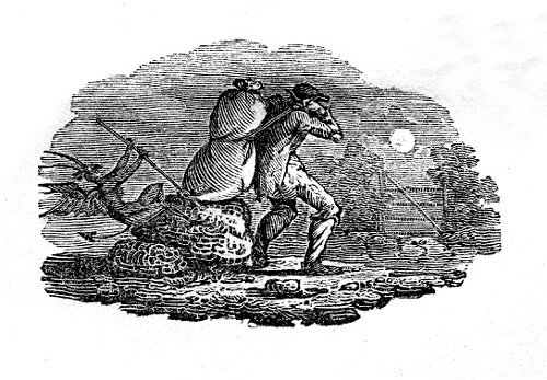 An illustration for the story Casting the Runes by the author M.R. James