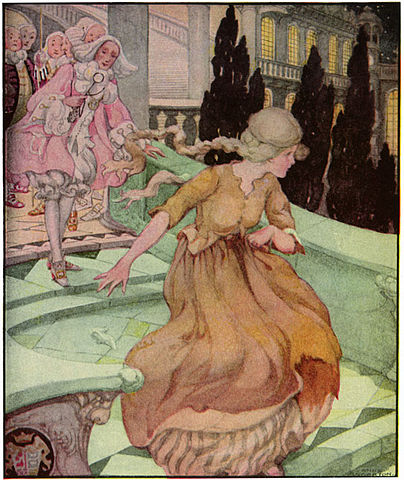 An illustration for the story Cinderella by the author