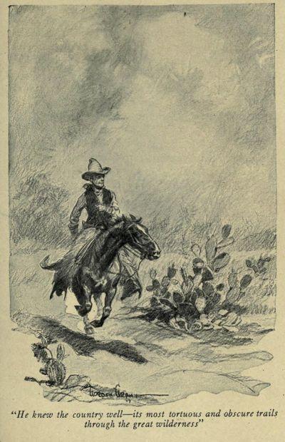 An illustration for the story A Double-Dyed Deceiver by the author O. Henry