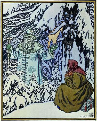 An illustration for the story Father Frost by the author