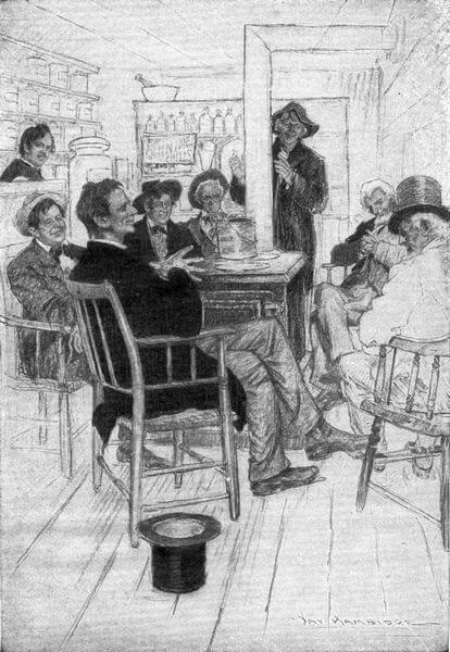 An illustration for the story He Knew Lincoln by the author Ida Tarbell