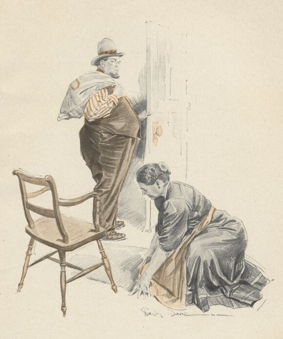 An illustration for the story His Other Self by the author W. W. Jacobs
