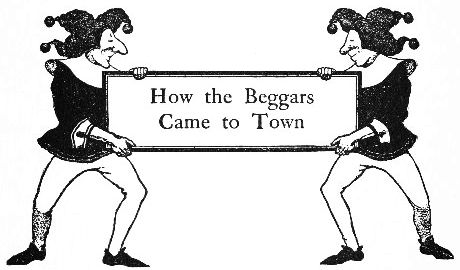 An illustration for the story How The Beggars Came To Town by the author L. Frank Baum