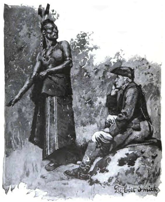 An illustration for the story Indian Heroes And Sages by the author William Dean Howells