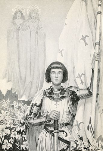 An illustration for the story Joan of Arc by the author Kate Dickinson Sweetser