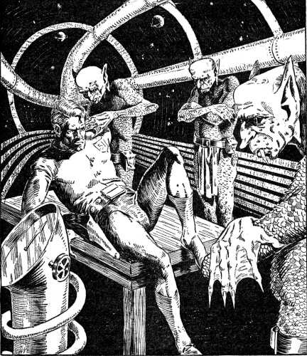 An illustration for the story Lazarus Come Forth by the author Ray Bradbury