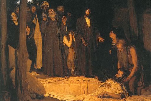 An illustration for the story Lazarus by the author Leonid Andreyev