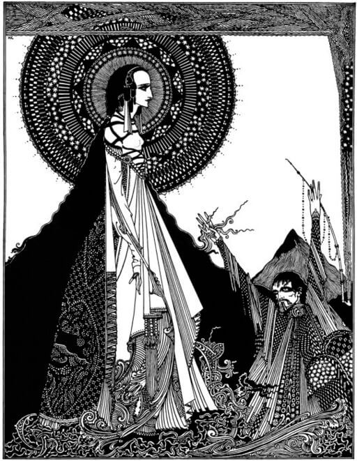 An illustration for the story Ligeia by the author Edgar Allan Poe