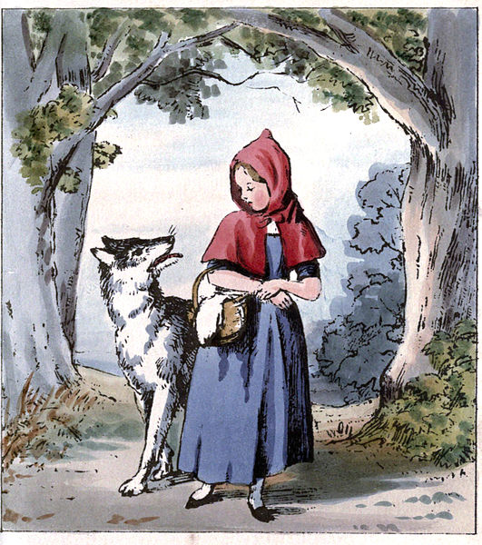 An illustration for the story Little Red Riding Hood by the author