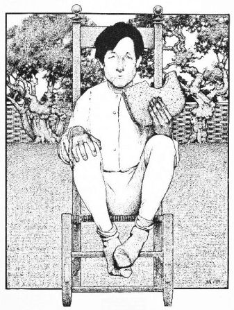 An illustration for the story The Story Of Tommy Tucker by the author L. Frank Baum