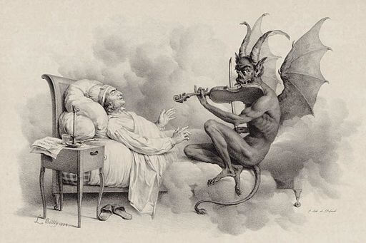 An illustration for the story Never Bet the Devil Your Head by the author Edgar Allan Poe