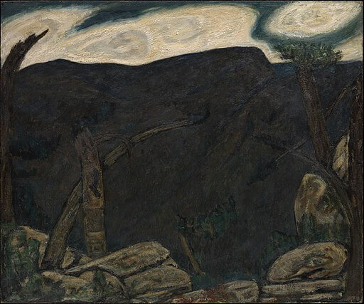 New Year's Night, Marsden Hartley, The Dark Mountain, 1909