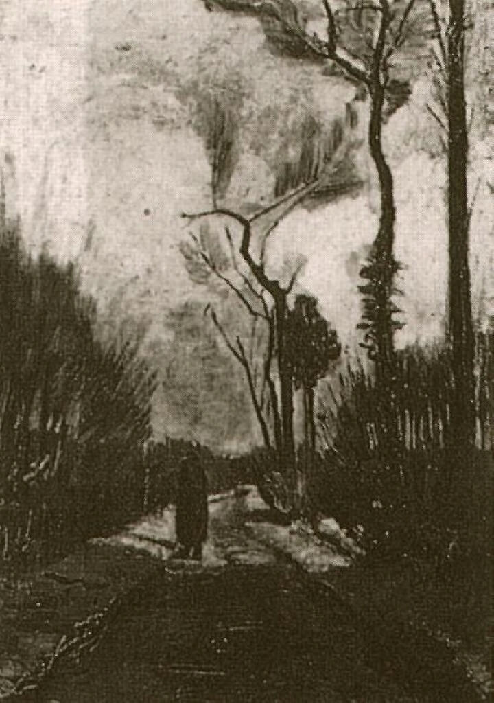 An illustration for the story One Autumn Night by the author Maxim Gorky