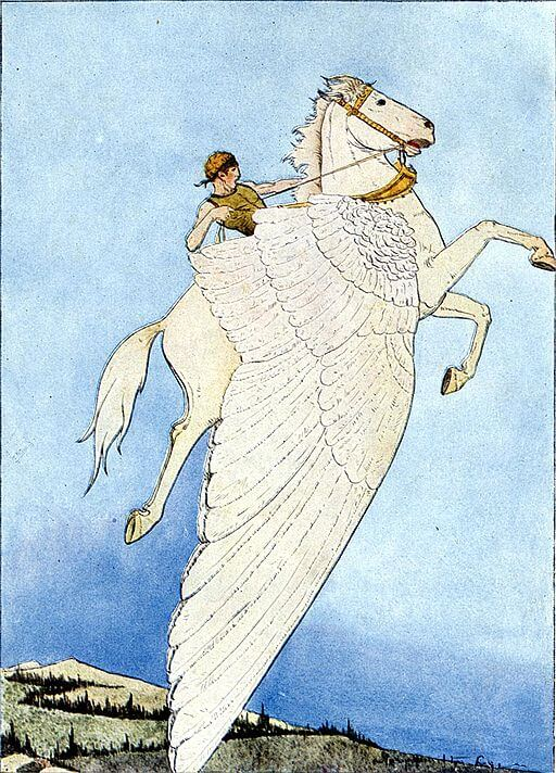 Pegasus, the Winged Horse illustration by Hamilton Wright Maybie, 1914