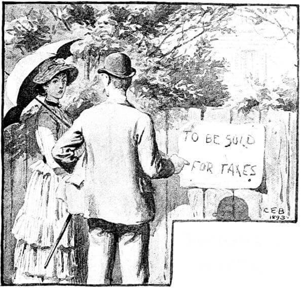 An illustration for the story Pomona's Novel by the author Frank Stockton
