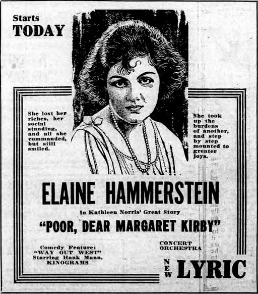 Poor, Dear Margaret Kirby movie poster, 1921