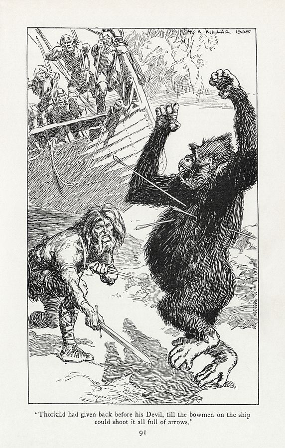 An illustration for the story The Knights of the Joyous Venture by the author Rudyard Kipling