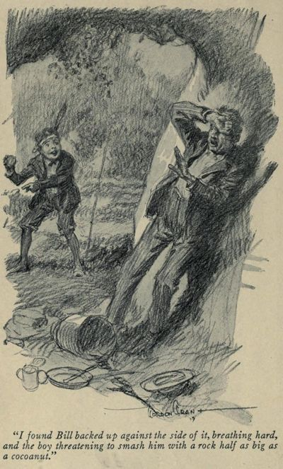 An illustration for the story The Ransom of Red Chief by the author O. Henry