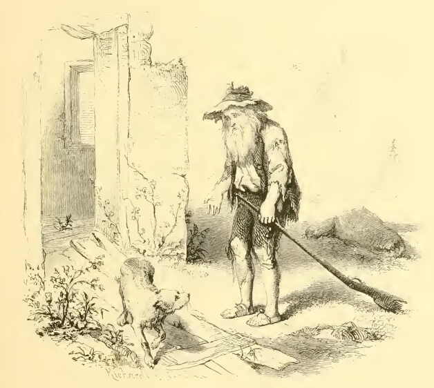 Rip Van Winkle as an old man, Washington Irving