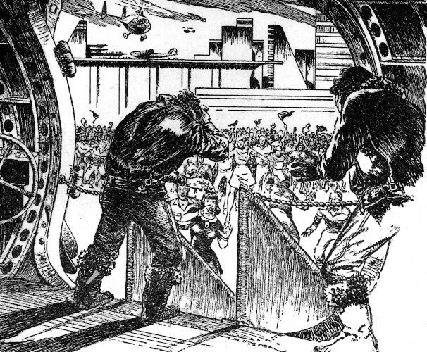 An illustration for the story Rocket Summer by the author Ray Bradbury