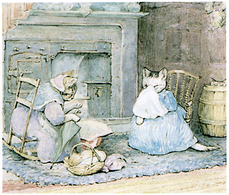 An illustration for the story The Tale of Samuel Whiskers by the author Beatrix Potter