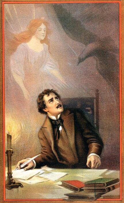 An illustration for the story The Angel of the Odd by the author Edgar Allan Poe