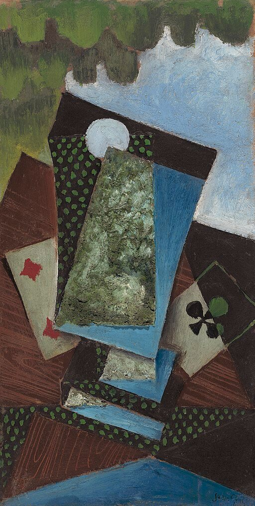 P.G. Wodehouse, The Best Sauce, Juan Gris, Ace of Clubs and Four of Diamonds, 1912