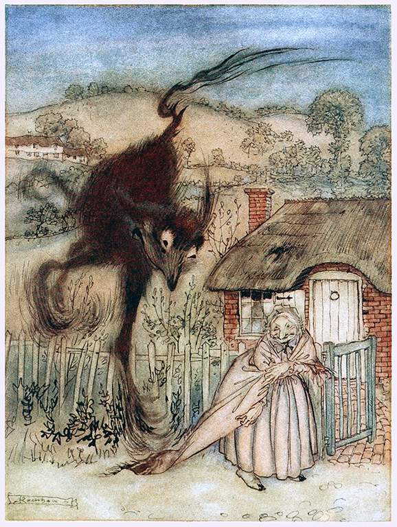 An illustration for the story The Bogey-Beast by the author