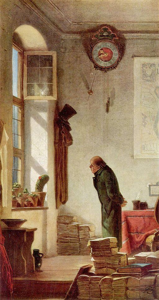 The Cactus Enthusiast, Carl Spitzweg, 1850