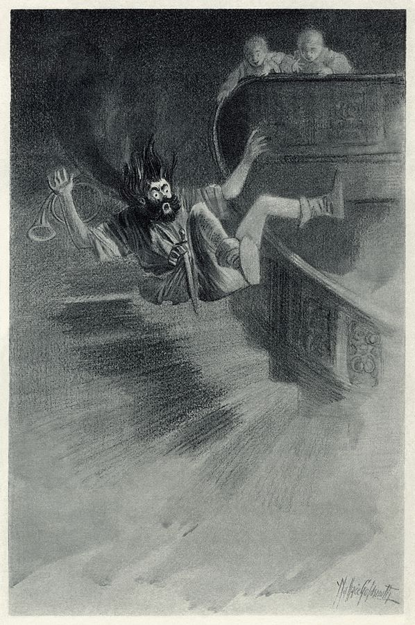 An illustration for the story The Canterville Ghost by the author Oscar Wilde