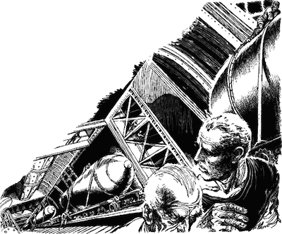 An illustration for the story The Defenders  by the author Philip K. Dick