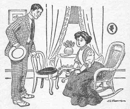 An illustration for the story The Exact Science of Matrimony by the author O. Henry