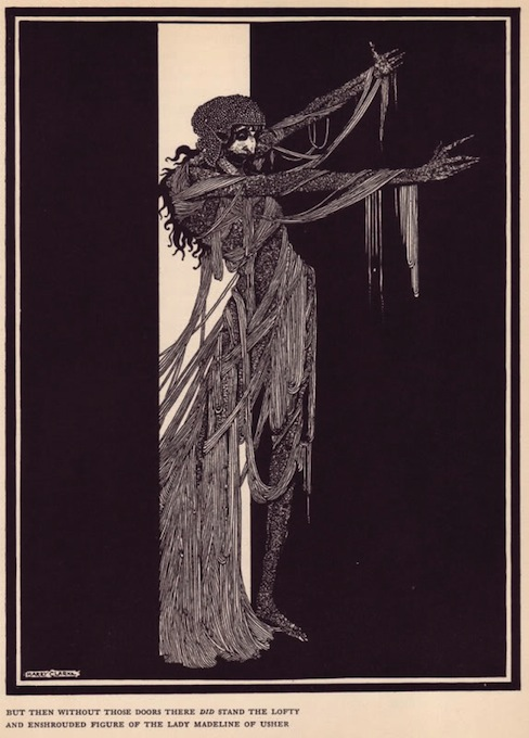 An illustration for the story The Fall of the House of Usher by the author Edgar Allan Poe
