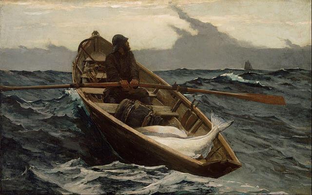 An illustration for the story The Father by the author Bjørnstjerne Bjørnson