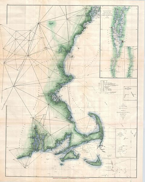 US Coast Survey Chart of Cape Cod 1873